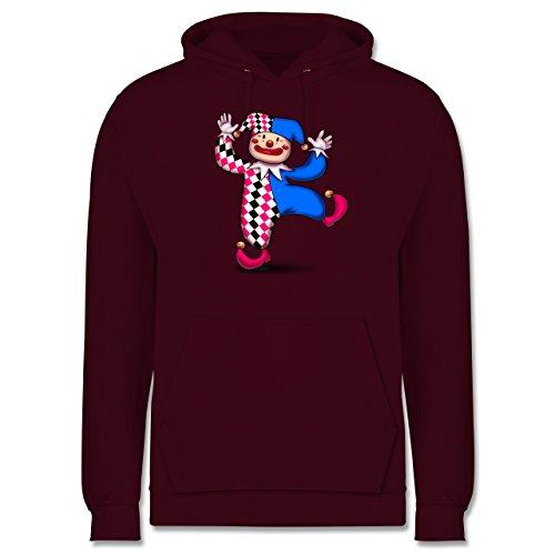 Karneval & Fasching - Tanzender Clown - Männer Premium Kapuzenpullover / Hoodie Burgundrot