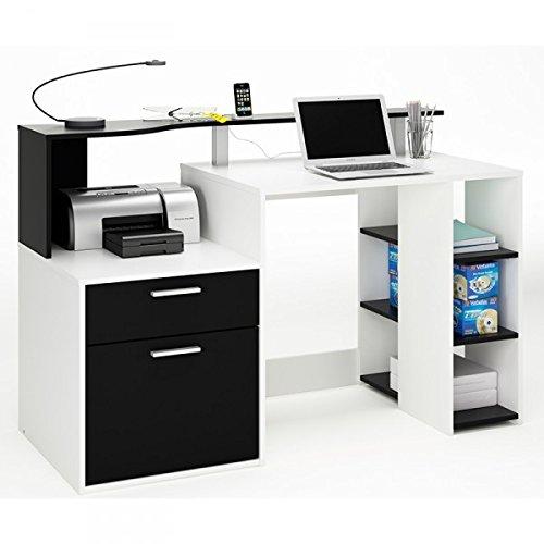 Schreibtisch Marie schwarz / weiß Holz Computertisch Kinderschreibtisch Jugendschreibtisch Bürotisch Kinderzimmer Jugendzimmer