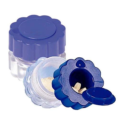 Triturador de pastillas, Con contenedor, Azul y transparente, Mobiclinic