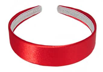 Bling Online 2.5cm Scarlet Red Satin Look Faric Covered Alice Band Headband.