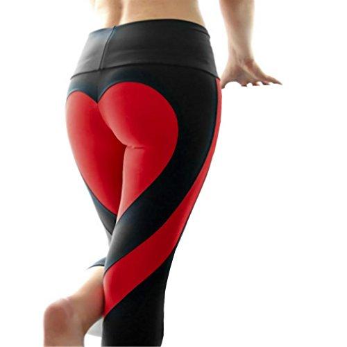 "Bluester Women Elastic High Waist Sportswear, Athletic ""Heart Printed"" Push Up Yoga Leggings Test"