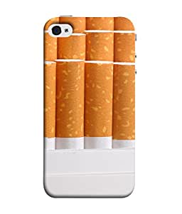 FUSON Designer Back Case Cover for Apple iPhone 5S (Cigarettes Case White Tobacco Foreign Lighter Light)