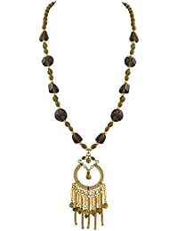 Zephyrr Fashion Handmade Beaded Tassel Pendant Necklace With Glass Beads For Girls And Women