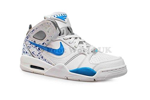 Nike Air Flight Falcon uomo Hi top Trainers 397204scarpe da tennis Whites