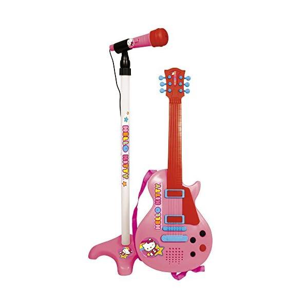 Reig 1509 - Chitarra Elettrica Hello Kitty a 6 Corde e Microfono con Asta