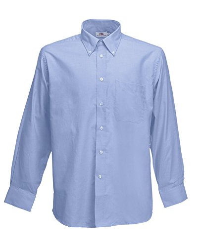 F600 Men´s Long Sleeve Oxford Shirt, Farbe:Oxford Blue;Größen:XXL XXL,Oxford Blue -