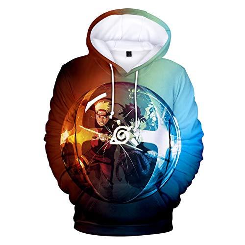 SERAPHY Unisex Naruto Kapuzenpullover Sweatshirt Cartoon Erwachsene Cosplay 3D gedruckt Pullover Hoodie Freizeit Sweatshirt-135-S