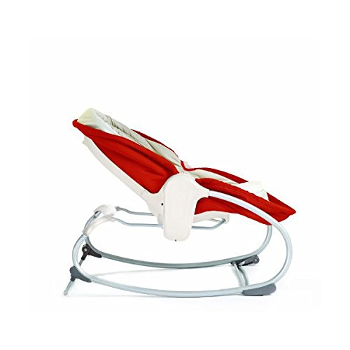 Tiny Love 3-in-1 Rocker-Napper (gemütliche Babywippe, Baby-Schaukel und Babybett in einem, inklusive Vibration und Mobile) rot