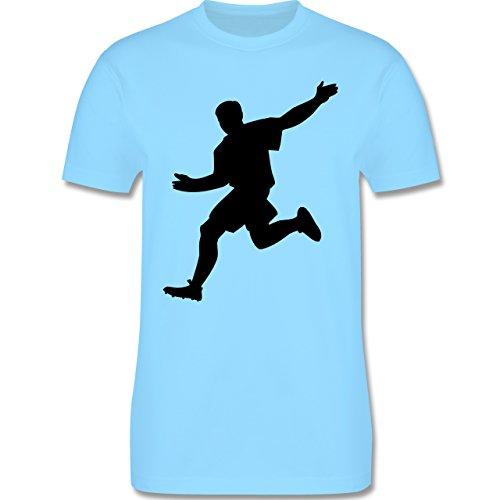 Fußball - Fußball - Herren Premium T-Shirt Hellblau