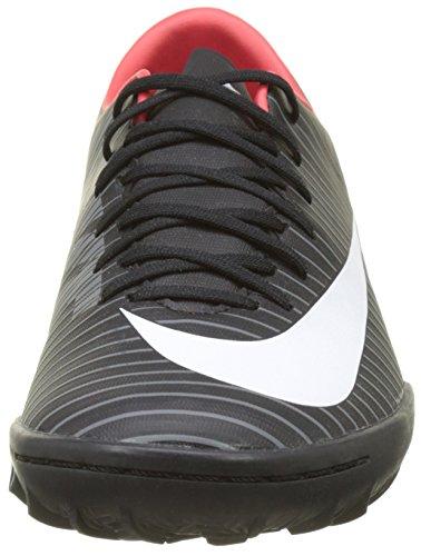 Nike Herren MercurialX Victory VI TF Fußballschuhe Schwarz (Black/white/dk Grey/univ Red)