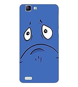 EPICCASE Grumpy smiley Mobile Back Case Cover For Vivo X 3s (Designer Case)