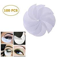 100pcs Disposable Makeup Eye Pad Sticker Eye Shadow Stickers Grafted Tape for Eyelash extension, Eyelash perming, Eyelash tinting,Lip Makeup