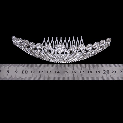 Tiara Corona Diamante De Cristal De Imitación Para Fiesta Boda Novia