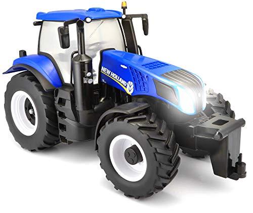 RC Auto kaufen Traktor Bild 2: Maisto Tech R/C New Holland Traktor T8.320: Ferngesteuerter Traktor mit Licht, Maßstab 1:16, mit Stick-Controller, ab 8 Jahren, 35 cm, blau (582026)*