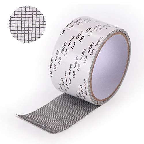 Zitfri nastro ripara zanzariere adesivo adesivi per zanzariera ripara kit riparazione zanzariere grigio (2m*5cm)