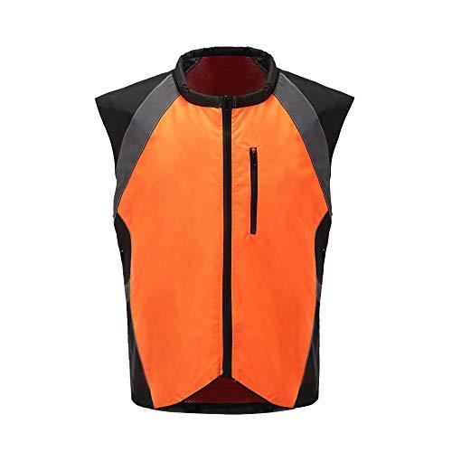 AYKRM Sicherheits-Schutz Warn-Schutz Warnweste Motorrad (M, Orange)