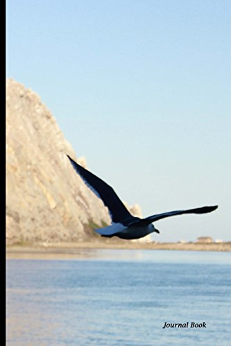 Journal Book: Morro Bay Bird and Rock, Lined Blank Journal Book, 6 x 9, 150 Pages -