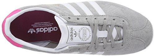 adidas Gazelle Og, Sneakers Basses femme Gris (mgh Solid Grey/ftwr White/solar Pink)