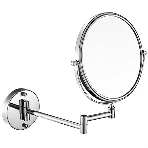 GuRun Kosmetikspiegel Normal+10 Fach,Durchmesser 20cm,Hochglanz verchromtes Messing,M1309(20cm,10X)