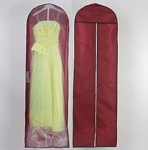 186 cm longueur housse de protection respirante pour v tements et robes de mari e avec de - Housse protection portant vetements ...