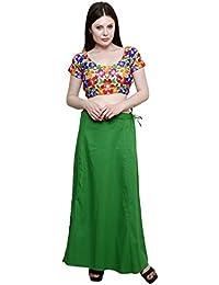 Pistaa's Cotton Lehenga Choli(PTCPAKG_Pak Green_Free Size)