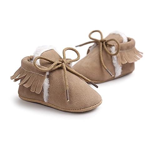 KolamomTM , Chaussures premiers pas pour bébé (fille) #K 12cm(4.7inch) / UK 2