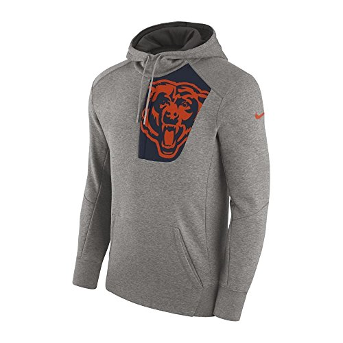 Nike NFL Chicago Bears Fly Fleece CD PO Hoodie Medium (Fleece Hoodie Bear)