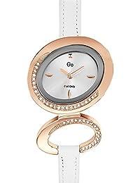 Go Girl Only–698685Damen-Armbanduhr 045J699Analog silber–Armband Leder Weiß