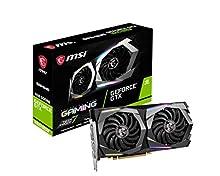 MSI NVIDIA GEFORCE GTX 1660 SUPER GAMING X Scheda grafica '6GB GDDR6, 1830Hz, RGB Mystic Light, 3x DisplayPort, HDMI, Dual Fan Cooling System'