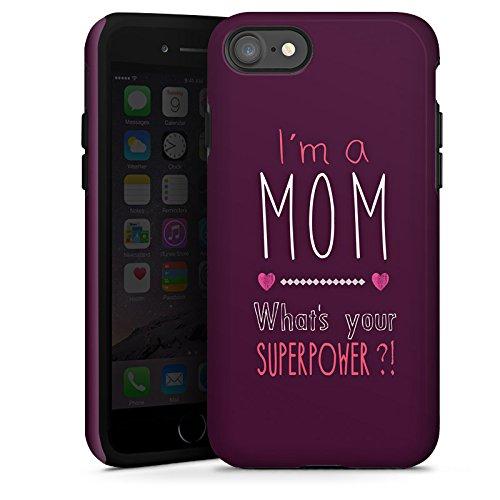 Apple iPhone X Silikon Hülle Case Schutzhülle Mutter Superpower mama Tough Case glänzend
