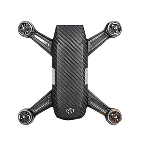 Preisvergleich Produktbild Hensych® 3M Wasserdichte Carbon-Faser-Körper-Fernsteuerungsabziehbild-Haut-Aufkleber für DJI Spark Drone (Black)