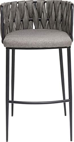 Kare design - Chaise de bar grise simili cuir CHEERIO