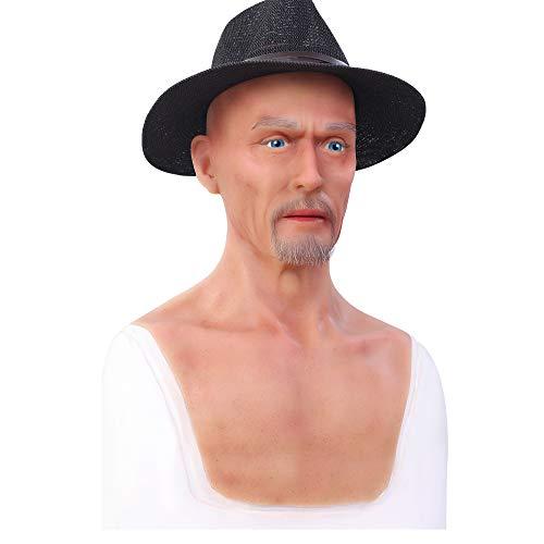 Realistische Weibliche Masken Halloween Ostern Weihnachtsmasken Gesicht Cosplay Männlich zu Weiblich für Crossdresser Transgender Shemale Charles-3 ()