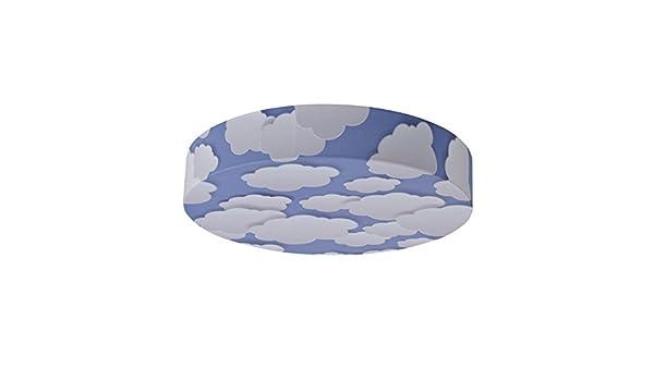 Plafoniera Tessuto Elasticizzato : Bainba plafoniera applique nuvole e27 bianco 40 x 8 cm