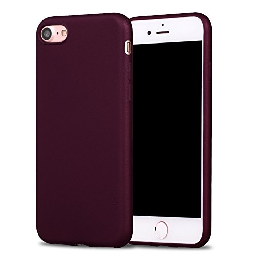 iPhone 8 Hülle, iPhone 7 Hülle, X-Level [Guardian Serie] Soft Flex TPU Case Ultradünn Handyhülle Silikon Bumper Cover Schutz Tasche Schale Schutzhülle für iPhone 7/ iPhone 8 4,7 Zoll - Weinrot