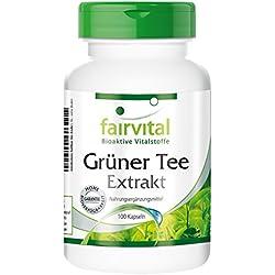 Grüner Tee Extrakt (Camellia sinensis, mind. 50% Polyphenole), 100 Kapseln - vegan - Grüntee - Green Tea - aus der Ayurveda und TCM