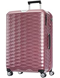 Samsonite Polygon Polycarbonate 76 cms Pink Hardsided Check-in Luggage (SAM Polygon Spinner 75 Pink)