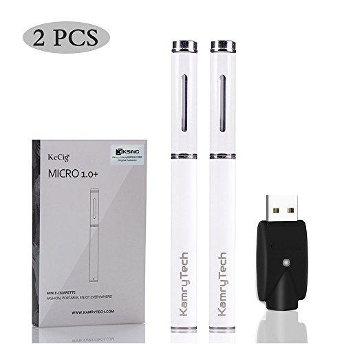 KAMRY Micro Cigarrillo Electrónico Starter Kit Con Cargador Inalámbrico USB, 170mAh Batería...