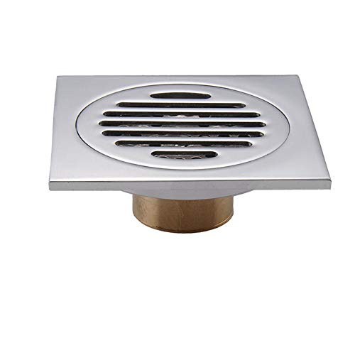Single Copper Electroplating Geruchlose Spüle Filter Screen Sealing Cover Anti-Blocking-Filter Für Badezimmer Bodenablauf Rechteck Screen Protector Single