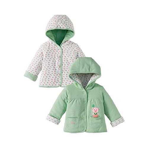 BORNINO Wendejacke gefüttert Baby-Jacke Babykleidung, Größe 50/56, mehrfarbig