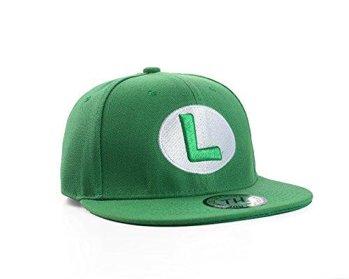 Grün Luigi Snapback Baseballkappe ()