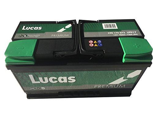 lp017Lucas Premium Batteria di auto 12V 90AH