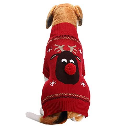Blaward Haustiere Hund Weihnachten Kostüm Pullover für Herbst Winter Warm Knit Shirts Kleidung Dog Party Dress Up für ()