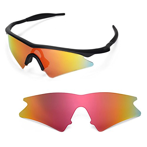 Walleva Ersatzgläser für Oakley M Frame Sweep Sonnenbrille - Mehrfache Optionen (Feuer Red Mirror Coated - Polarisiert)