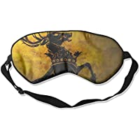 Sleep Eye Mask Deer Game Lightweight Soft Blindfold Adjustable Head Strap Eyeshade Travel Eyepatch preisvergleich bei billige-tabletten.eu