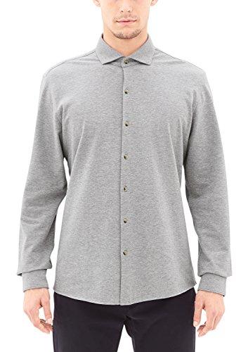 s.Oliver Herren Slim Fit Business Hemd 12709212008 grau (grey melange 9700)