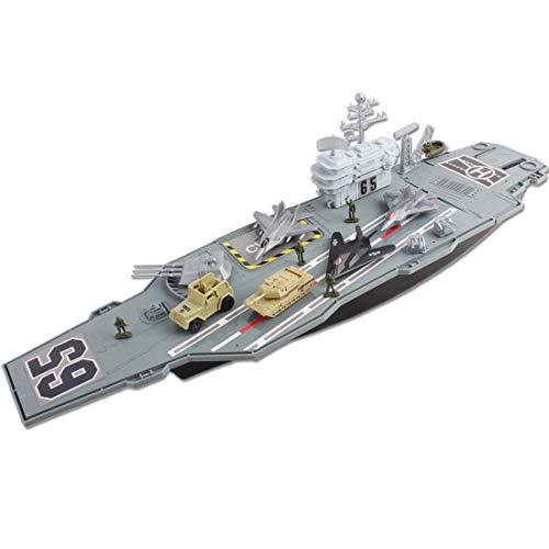YUHT RC ferngesteuertes - Schiffs-Flugzeugträger mit kleinen Modell-Flugzeugen und -Trucks Geeignet für Kinderspielzeug ab 4 Jahren
