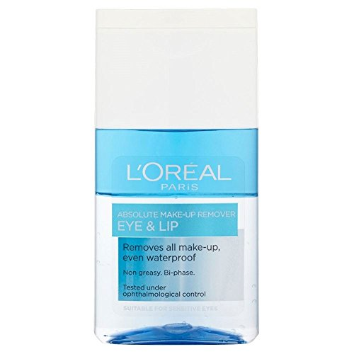 L'Oréal Paris Dermo-Expertise Absolute yeux et lèvres Make Up Remover (125ml) - Paquet de 6