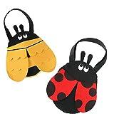 Filztasche für Kinder, Bienchen oder Marienkäferchen, ca. 20 cm., Biene, Marienkäfer, Henkeltasche, Accessoire, passend zu Ihrem Kostüm, ideal an Karneval oder für den nächsten Kindergeburtstag (Bienchen)