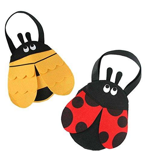 er, Bienchen oder Marienkäferchen, ca. 20 cm., Biene, Marienkäfer, Henkeltasche, Accessoire, passend zu Ihrem Kostüm, ideal an Karneval oder für den nächsten Kindergeburtstag (Bienchen) (Marienkäfer-tanz-kostüm)